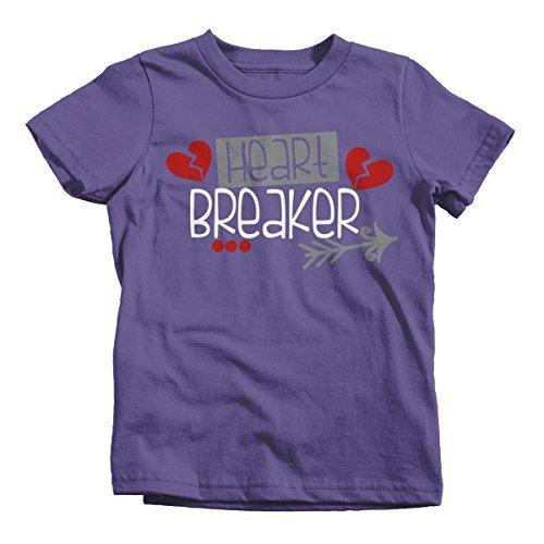 Shirts By Sarah Youth Heart Breaker Kids Funny Arrow Valentine's Day T-Shirt Boy's Girl's-Shirts By Sarah