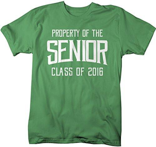 Shirts By Sarah Men's Property Of Senior Class 2016 T-Shirt Graduate Shirts-Shirts By Sarah