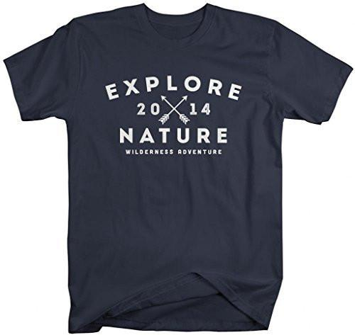 Shirts By Sarah Men's Explore Nature T-Shirt 2014 Camping Hiking Shirts-Shirts By Sarah