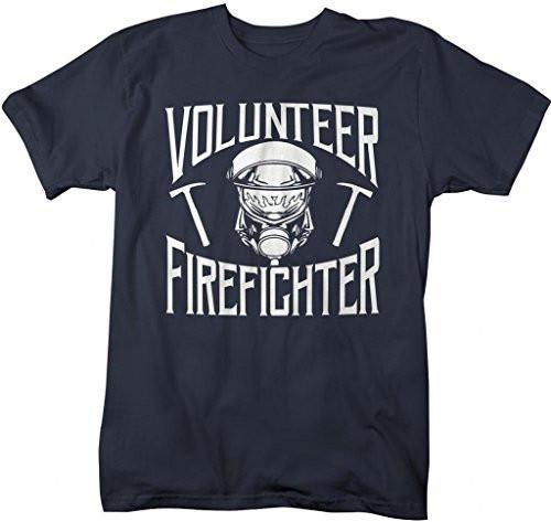 Shirts By Sarah Men's Volunteer Firefighter T-Shirt Fireman Shirts-Shirts By Sarah
