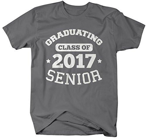 Shirts By Sarah Men's Graduating Class 2017 Senior Graduate T-Shirt-Shirts By Sarah