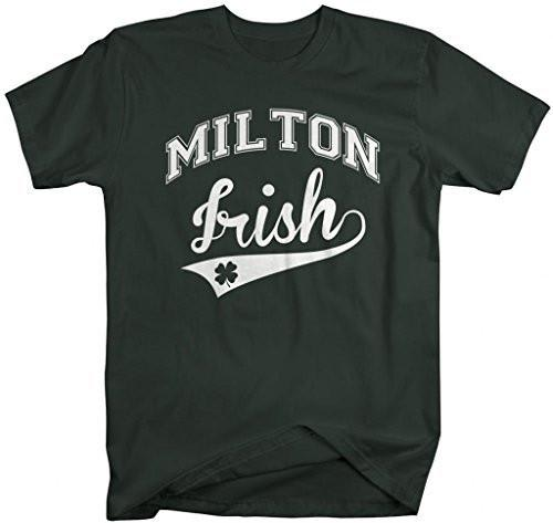 Shirts By Sarah Men's St. Patrick's Day City T-Shirt Milton Irish MA Shirts-Shirts By Sarah