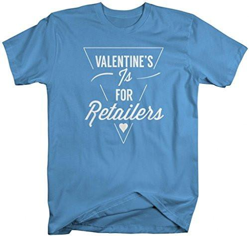 Shirts By Sarah Men's Ironic Valentine's Hipster T-Shirt Funny Shirts-Shirts By Sarah