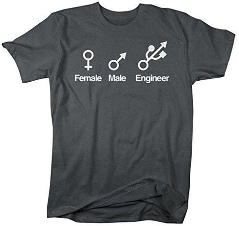 fb67905c Shirts By Sarah Men's Funny Engineer T-Shirt Male Female Symbol Shirts- Shirts By