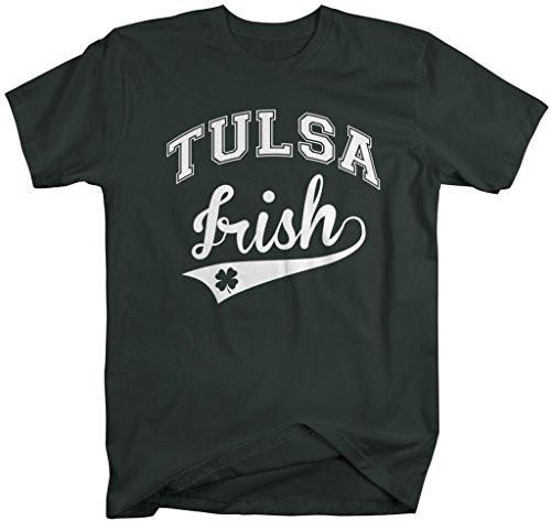 Shirts By Sarah Men's St. Patrick's Day City T-Shirt Tulsa Irish OK Shirts-Shirts By Sarah