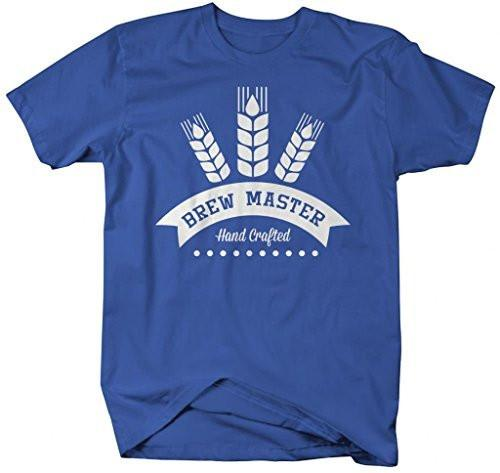 Shirts By Sarah Men's Brew Master Hand Crafted T-Shirt Beer Brew Shirts-Shirts By Sarah