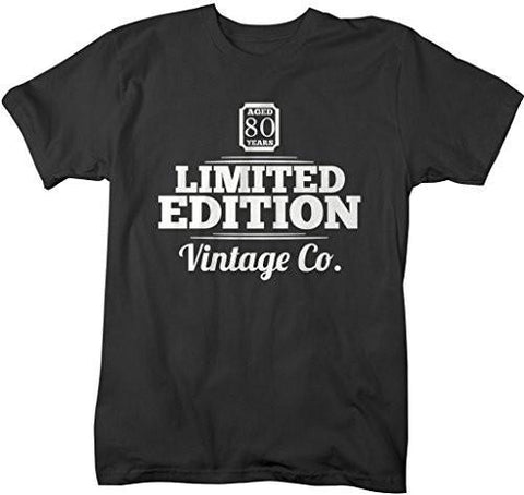 Shirts By Sarah Men's 80th Birthday T-Shirt Limited Edition Vintage Shirts-Shirts By Sarah