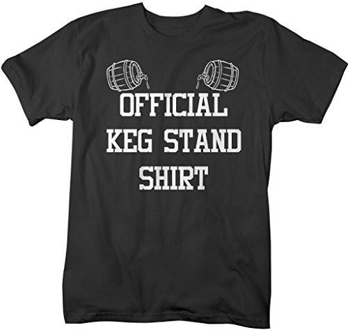 Shirts By Sarah Men's Funny Official Keg Stand T-Shirt Drinking Shirts-Shirts By Sarah