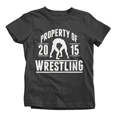 Shirts By Sarah Boy's Property Of Wrestling 2015 T-Shirt-Shirts By Sarah
