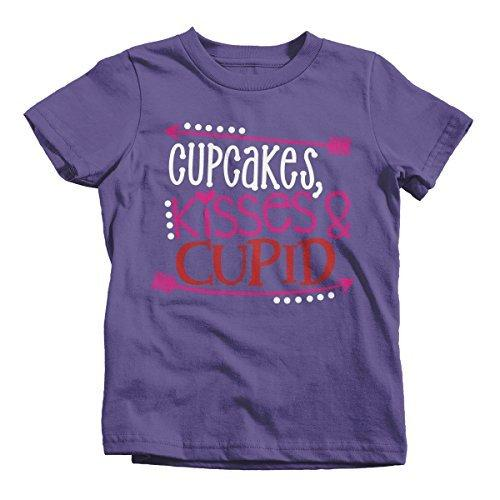Shirts By Sarah Youth Cupcakes Kisses & Cupid Kids Valentine's Day T-Shirt-Shirts By Sarah