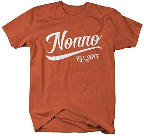 Shirts By Sarah Men's Nonno Est. 2015 T-Shirt Fathers Day Shirts-Shirts By Sarah