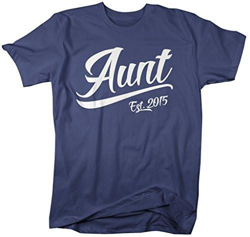 Shirts By Sarah Women's Modern Aunt Established 2015 T-Shirt Unisex Tee-Shirts By Sarah