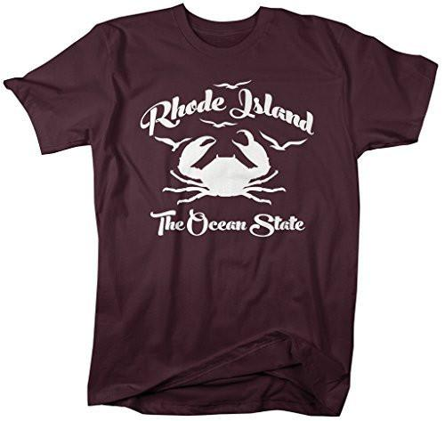 Shirts By Sarah Men's Rhode Island State Nickname T-Shirt Ocean State Crab-Shirts By Sarah