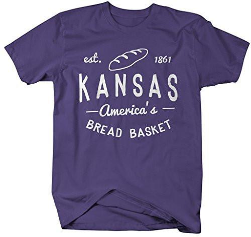 Shirts By Sarah Men's Kansas State Nickname Shirt America's Bread Basket T-Shirts Est. 1861-Shirts By Sarah