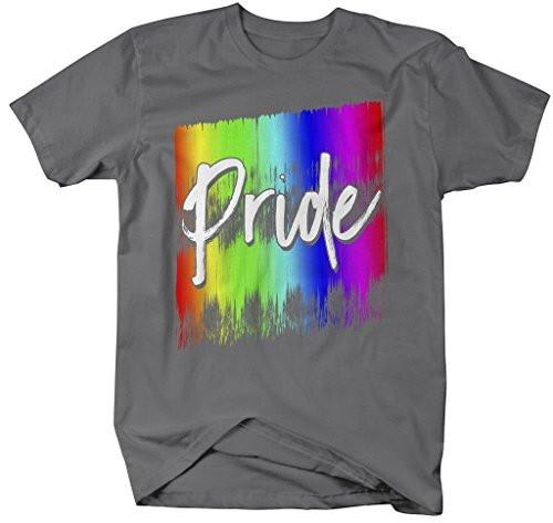 Shirts By Sarah Men's Inspirational LGBT Pride T-Shirt Rainbow Support Shirt-Shirts By Sarah