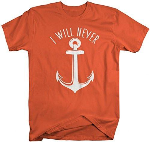 Shirts By Sarah Men's Best Friends Couples T-Shirts I Will Never Let You Sink (I Will Never Half)-Shirts By Sarah