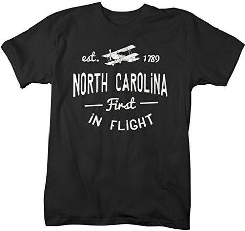 Shirts By Sarah Men's North Carolina State Slogan Shirt First In Flight T-Shirt Est. 1789-Shirts By Sarah