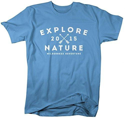 Shirts By Sarah Men's Explore Nature T-Shirt 2015 Camping Hiking Shirts-Shirts By Sarah
