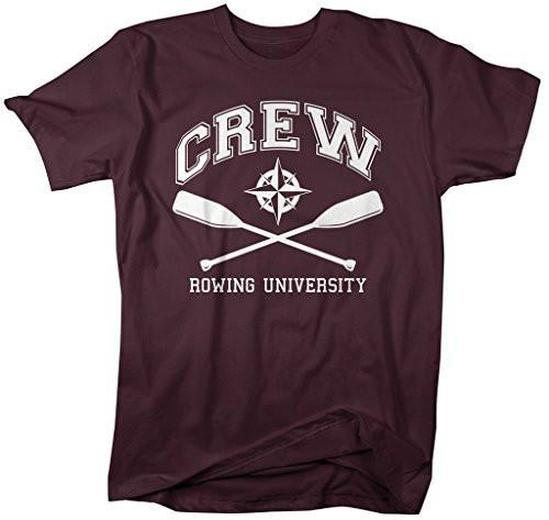 Shirts By Sarah Men's Crew T-Shirt Rowing University Shirts Regatta-Shirts By Sarah