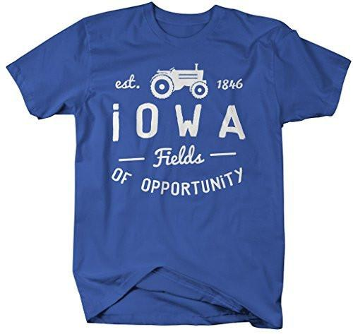 Shirts By Sarah Men's Iowa State Slogan Shirt Fields Opportunity T-Shirt Est. 1846-Shirts By Sarah