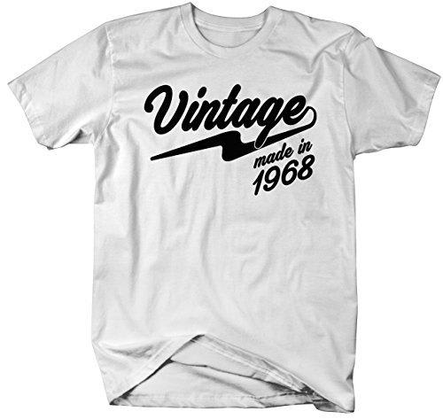 b9e5a7215 Shirts By Sarah Men's Vintage Made In 1968 T-Shirt Retro 50th Birthday  Shirts-