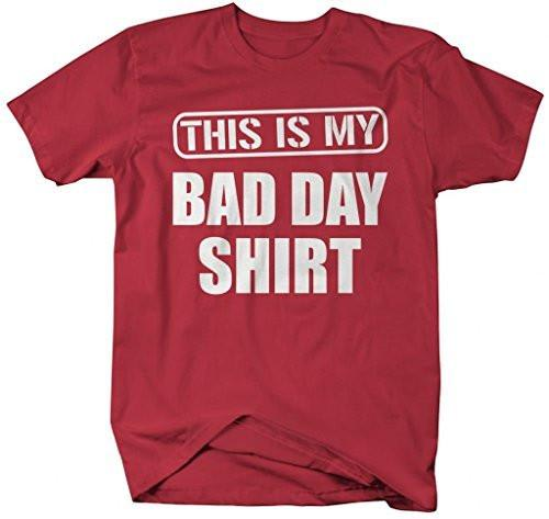 Shirts By Sarah Men's Funny This Is My Bad Day T-Shirt Hipster Shirts-Shirts By Sarah