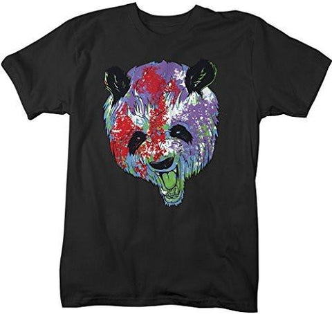 Shirts By Sarah Men's Hipster Grunge Panda T-Shirt Angry Pandas Bear Shirts-Shirts By Sarah