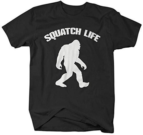 Shirts By Sarah Men's Squatch Life T-Shirt Sasquatch Bigfoot Shirts-Shirts By Sarah