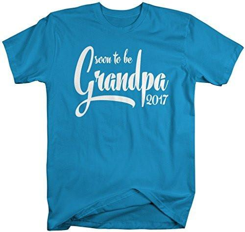Shirts By Sarah Men's Soon To Be Grandpa 2017 Shirt Baby Reveal T-Shirt-Shirts By Sarah