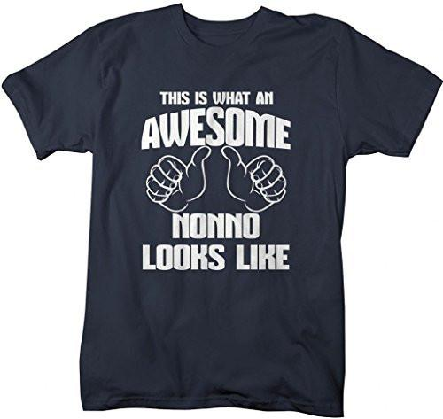 Shirts By Sarah Men's Awesome Nonno T-Shirt Father's Day Shirts-Shirts By Sarah