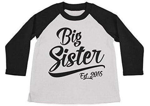 Shirts By Sarah Girl's Big Sister Est. 2016 T-Shirt Promoted To Shirts-Shirts By Sarah