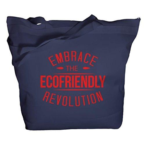 Shirts By Sarah Tote Bag Reusable 50% Recycled Embrace Eco-Friendly Revolution Bags-Shirts By Sarah