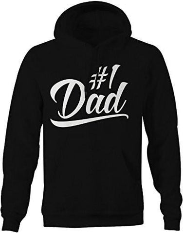 Shirts By Sarah Men's #1 Dad Hoodie Since Modern Father's Day Pullover-Shirts By Sarah