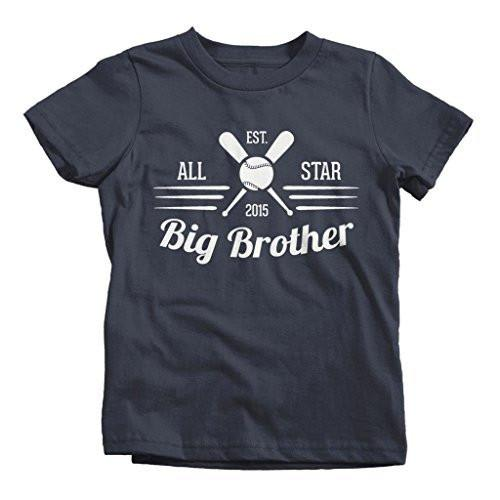 Shirts By Sarah Boy's All Star Big Brother 2015 Baseball T-Shirt-Shirts By Sarah