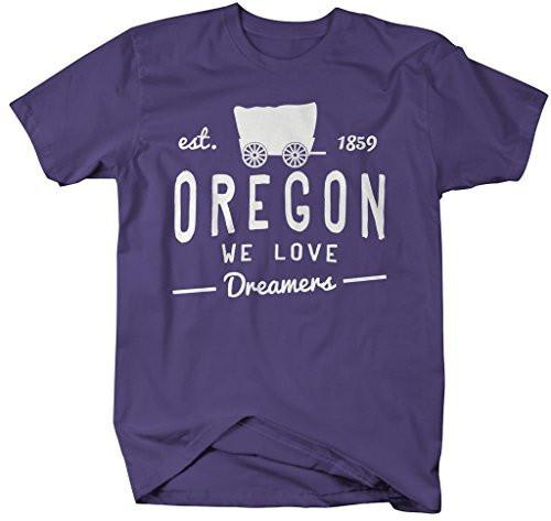 Shirts By Sarah Men's Oregon State Slogan Shirt We Love Dreamers T-Shirt Est. 1859-Shirts By Sarah