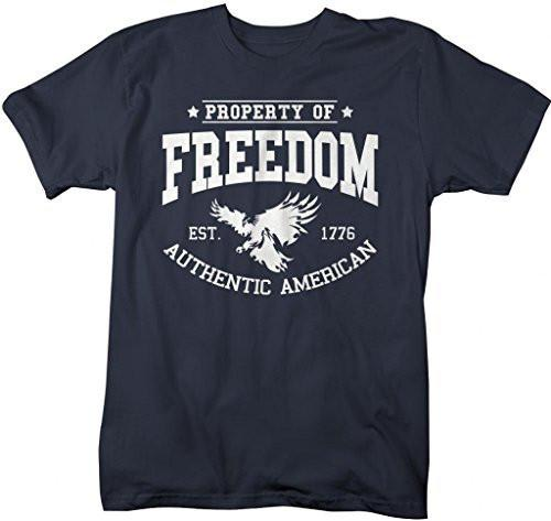 Shirts By Sarah Men's Property Of Freedom T-Shirt American Patriotic Shirts 4th July-Shirts By Sarah