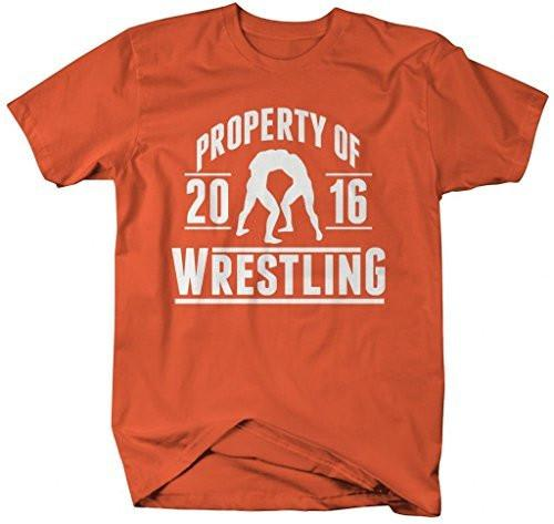 Shirts By Sarah Men's Wrestler Shirts Property Of Wrestling 2016 T-Shirt-Shirts By Sarah