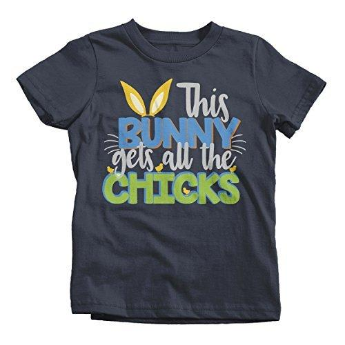 This Bunny gets All The Chicks Cute Easter Kids T-Shirt