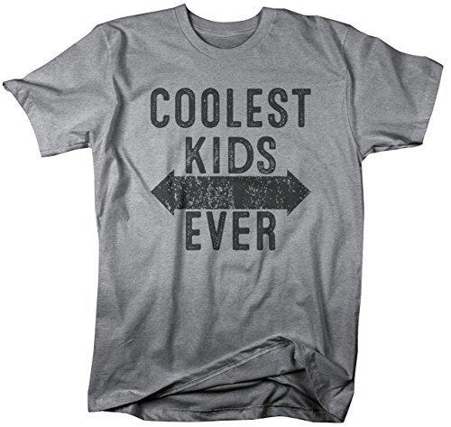 Shirts By Sarah Men's Matching Father Dad Son Daughter T-Shirt Coolest Kids Ever-Shirts By Sarah