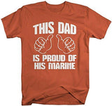 Shirts By Sarah Men's This Dad Proud Of His Marine T-Shirt Support Tee-Shirts By Sarah