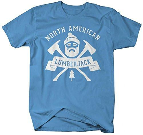 Shirts By Sarah Men's North American Lumberjack T-Shirt Woodsman-Shirts By Sarah