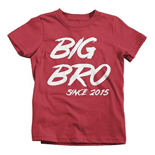 Shirts By Sarah Boy's Big Bro Since 2015 T-Shirt Brother Promoted To-Shirts By Sarah