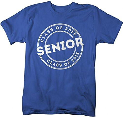 Shirts By Sarah Men's 2015 Senior Class T-Shirt Circle Badge Shirts-Shirts By Sarah