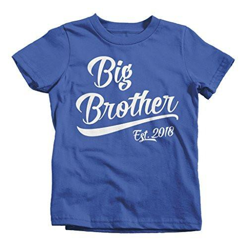 Shirts By Sarah Boy's Big Brother Est. 2018 T-Shirt Promoted To T-Shirt-Shirts By Sarah