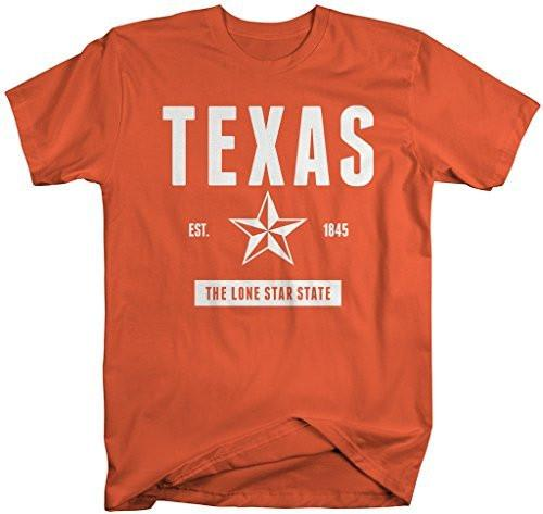 Shirts By Sarah Men's Texas State Nickname Shirt Lone Star State T-Shirt Est. 1845-Shirts By Sarah