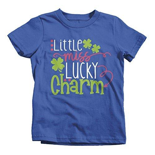 Shirts By Sarah Girl's Little Miss Lucky Charm T-Shirt ST. Patrick's Day-Shirts By Sarah