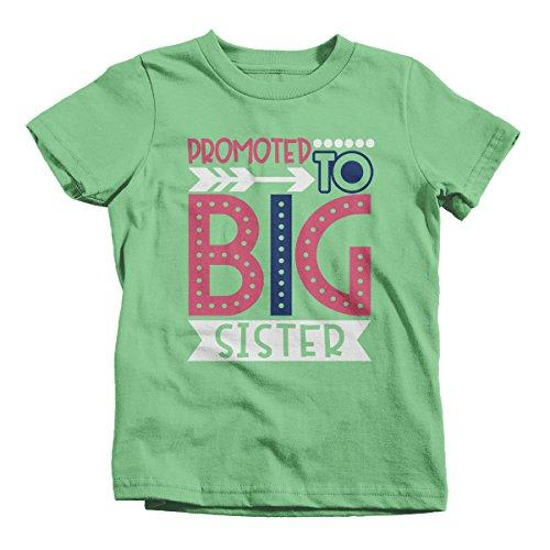 Girl's Promoted to Big Sister Dotty T-Shirt Cute Shirt Promoted to T-Shirt-Shirts By Sarah