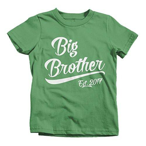 Shirts By Sarah Boy's Big Brother Est. 2017 T-Shirt Promoted To T-Shirt-Shirts By Sarah