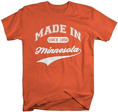 Shirts By Sarah Men's Made In Minnesota T-Shirt Since 1858 State Pride Shirts-Shirts By Sarah