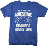 Shirts By Sarah Men's Awesome Grandpa T-Shirt Father's Day Shirts-Shirts By Sarah
